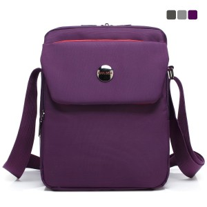 CoolBell(TM) 10.6 inches shoulder bag Fabric messenger bag iPad carrying case Hand bag Tablet Briefcase Waterproof Oxford clothe laptop computer shoulder bag for iPad/Men/Women/College/Teen,Purple