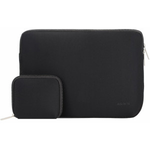 Mosiso Laptop Sleeve, Water Repellent Neoprene Case Bag Cover for 13-13.3 Inch MacBook Pro, MacBook Air, Notebook with a Small Case, Black
