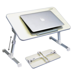 Avantree Quality Adjustable Laptop Table, Bed Portable Standing Desk, Foldable Sofa Breakfast Tray, Notebook Stand Reading Holder for Couch Floor - Minitable