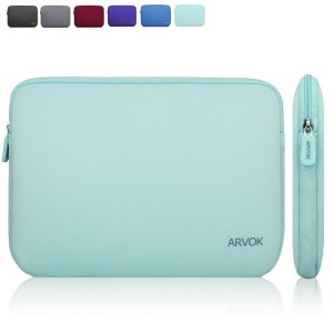 Arvok 13.3 14 Inch Water-resistant Neoprene Laptop Sleeve/Notebook Computer Case/Tablet Briefcase Carrying Bag/Pouch Skin Cover For Acer/Asus/Dell/Fujitsu/Lenovo/HP/Samsung/Sony/Toshiba(Light Green)