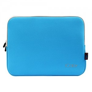 "Blue iColor 15"" - 15.6"" inch Laptop Neoprene Sleeve Case Bag Cover for Apple Macbook Pro, Dell Alienware 15 R2, Toshiba, Lenovo, HP, Dell, Samsung(IPS15-Blue)"