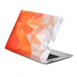"Unik Case Gradient Ombre Triangular Galore Graphic Ultra Slim Light Weight Matte Rubberized Hard Case Cover for Macbook Air 13"" 13-Inch Model: A1369 and A1466"