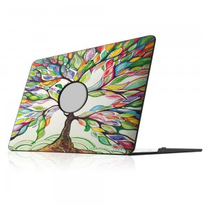 """Fintie MacBook Air 13 Inch Case - Ultra Slim Lightweight PU Leather Coated Plastic Hard Cover Snap On Protective Case For Apple MacBook Air 13.3"""" (A1466 / A1369), Love Tree"""