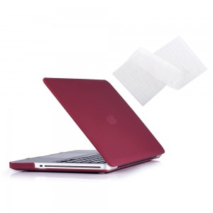 Ruban 2 in 1 Hard Case and Keyboard Cover for Macbook Pro 13.3-Inch - Wine Red
