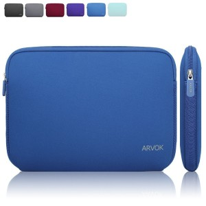 Arvok 17 17.3 Inch Water-resistant Neoprene Laptop Sleeve/Notebook Computer Pocket Case/Tablet Briefcase Carrying Bag/Pouch Skin Cover For Acer/Asus/Dell/Fujitsu/Lenovo/HP/Samsung/Sony(Dark Blue)