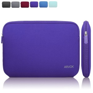Arvok 11 11.6 Inch Water-resistant Neoprene Laptop Sleeve Case Bag/ Notebook Computer Case/ Briefcase Carrying Bag/ Pouch Skin Cover For Acer/ Asus/ Dell/ Fujitsu/ Lenovo/ HP/ Samsung/ Sony(Purple)