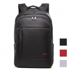 Kopack Deluxe Black Laptop backpack 14 Inch business trip computer daypack double laptop compartment Water resistant