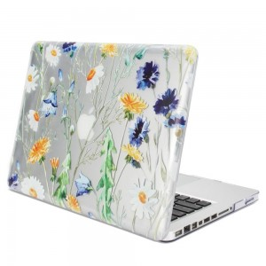 MacBook Pro 13 Case Clear See Through Floral Design, GMYLE Soft-Touch Hard Shell Protective Cover for Apple MacBook Pro 13 inch (Model: A1278) (Not fit for MacBook Pro 13 inch Retina)