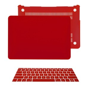 """TOP CASE - 2 in 1 Bundle Deal Apple the New Macbook 12-Inch 12"""" Retina Display Laptop Computer Rubberized Hard Shell Case Cover and Keyboard Cover for Model A1534 (Newest Version 2015) - Wine Red"""