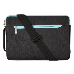 Mosiso Laptop Shoulder Bag Sleeve Briefcase,Polyester Fabric Case for 15-15.6 Inch Laptops/Notebook Computer/MacBook Airand Pro/Chromebook(Internal Dimensions: 15.16 x 0.79 x 10.63 inches),Black