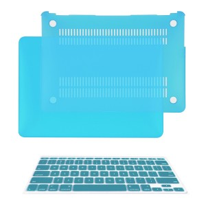 "TOP CASE - 2 in 1 Bundle Deal Air 11-Inch Rubberized Hard Case Cover and Matching Color Keyboard Cover for Macbook Air 11"" (A1370 and A1465) with TopCase Mouse Pad - Aqua Blue"