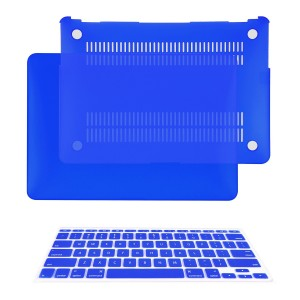 """TOP CASE - 2 in 1 Bundle Deal Air 11-Inch Rubberized Hard Case Cover and Matching Color Keyboard Cover for Macbook Air 11"""" (A1370 and A1465) with TopCase Mouse Pad - Royal Blue"""