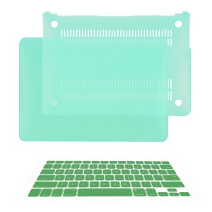 "TOP CASE - 2 in 1 Bundle Deal Air 13-Inch Rubberized Hard Case Cover and Matching Color Keyboard Cover for Macbook Air 13"" (A1369 and A1466) with TopCase Mouse Pad - Green"