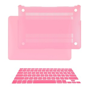 "TOP CASE - 2 in 1 Bundle Deal Air 13-Inch Rubberized Hard Case Cover and Matching Color Keyboard Cover for Macbook Air 13"" (A1369 and A1466) with TopCase Mouse Pad - Pink"