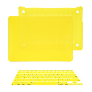 "TOP CASE - 2 in 1 Bundle Deal Air 13-Inch Rubberized Hard Case Cover and Matching Color Keyboard Cover for Macbook Air 13"" (A1369 and A1466) with TopCase Mouse Pad - Yellow"