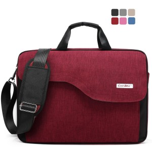 CoolBell(TM) CoolBell 15.6 Inch Nylon Laptop Bag Shoulder Bag With Strap Multicompartment Messenger Hand Bag Ta