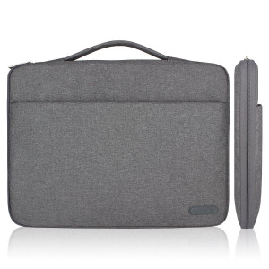 Arvok 13 13.3 14 Inch Water-resistant Canvas Fabric Laptop Sleeve With Handle and Zipper Pocket/Notebook Computer Case/Ultrabook Tablet Briefcase Carrying Bag For Acer/Asus/Dell/Lenovo/HP/Samsung (Gray)