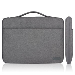 Arvok 11 11.6 12 Inch Water-resistant Canvas Fabric Laptop Sleeve With Handle and Zipper Pocket/Notebook Computer Case/Ultrabook Tablet Briefcase Carrying Bag For Acer/Asus/Dell/Lenovo/HP/Samsung(Gray)