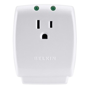 Belkin F9H100-CW Single Outlet SurgeCube Protector (White)