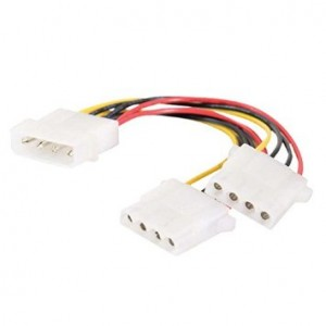 C2G/ Cables To Go 20413 One 5.25 Inch to Two 5.25 Inch Internal Power Y-Cable