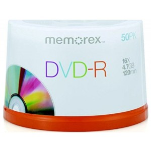 Memorex 4.7Gb/16x DVD-R 50-Pack Spindle