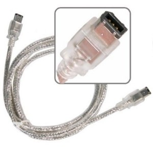 eForCity 6 foot 6 pin Male to 6 pin Male silver Firewire Cable for IEEE 1394 devices