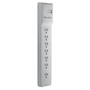 Belkin 7-Outlet Home/Office Surge Protector with 6-Feet Cord, BE107200-06