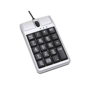 iOne Optical USB Mouse W/ Tenkey Pad And Large Numbers