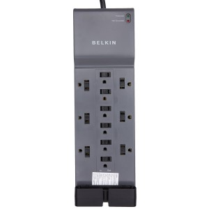 Belkin 12-Outlet Surge Protector with 8-Foot Cord, BE112234-08