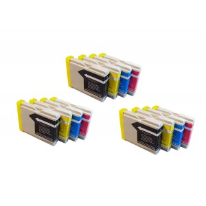 Generic 12-Pack Compatible Ink Cartridges for Brother LC51 MFC 230C 240C 350C 440CN 465CN 3360C 5460CN 586