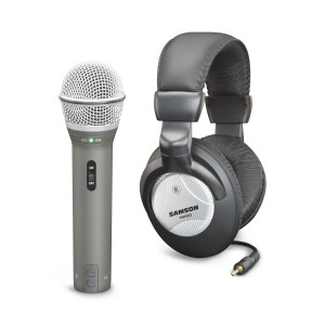 Samson Technologies Samson Q2U Handheld Dynamic USB Microphone with Headphones and Accessories