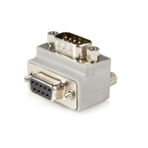 StarTech.com Right Angle DB9 to DB9 Serial Cable Adapter Type 1 - M/F (GC99MFRA1)