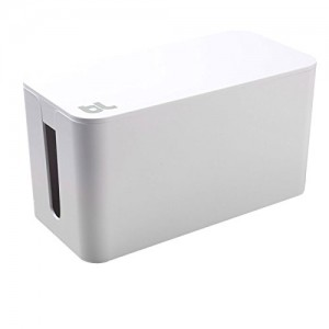 Bluelounge CableBox Mini White - Cable Management - Small Surge Protector Included