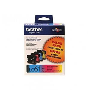 Brother LC61 Ink Cartridge ( Black,Cyan,Magenta,Yellow , 4-Pack )