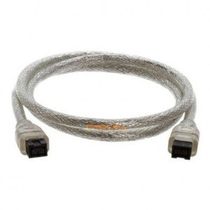 Cmple - 9 PIN/ 9PIN BETA FireWire 800 - FireWire 800 Cable - 3FT, CLEAR