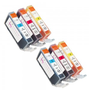 Sophia Global Compatible Ink Cartridge Replacement for Canon CLI-221 (2 Cyan, 2 Magenta, and 2 Yellow)