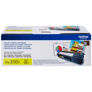 Brother TN310Y Yellow Toner Cartridge for Brother Laser Printer Toner - Retail Packaging