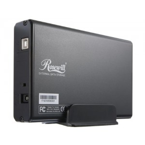 Rosewill RX35-AT-IU BLK Aluminum 3.5-Inch IDE to USB 2.0 External Enclosure (Black)