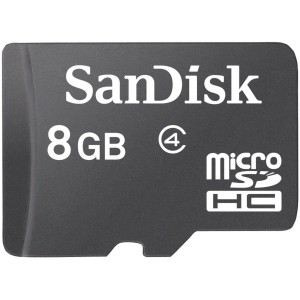 SanDisk 8GB MicroSDHC / Transflash with SD Adapter (BULK Packaging)