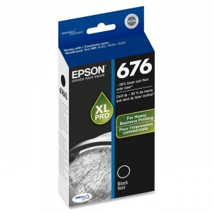 Epson T676XL120 DURABrite Ultra 676 Inkjet Cartridge -Black