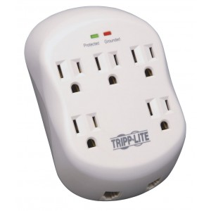 Tripp Lite 5 Outlet Direct Plug-in Surge Protector Power/Suppressor Tel/ Modem (SK5TEL-0)
