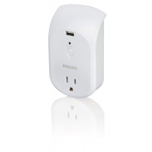 Philips SPS6010B/17 Power Multiplier with 1 Outlet
