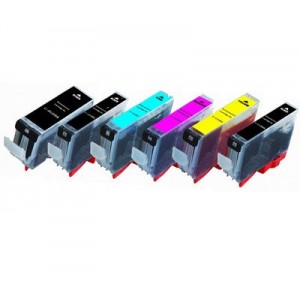 Generic 6 Pack Compatible PGI-225BK/CLI-226BK/CLI-226C/CLI-226M/CLI-226Y/CLI-226GY compatible ink cartridges with chips for Canon Pixma MG6120/MG6220/MG8120/MG8120B/MG8220