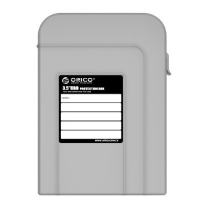 ORICO 3.5 Inch Hard Disk Drive HDD Storage Protection Box Hard Shell Carrying Case - Gray