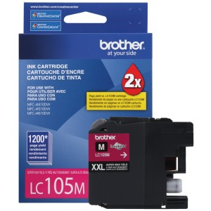 Brother Printer LC105M Super High Yield Cartridge Ink, Magenta