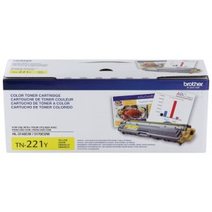 Brother Printer TN221Y Standard Yield Yellow Toner Cartridge