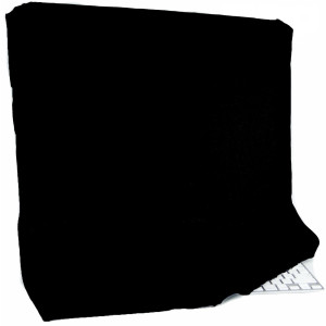 """Kuzy - Black Full Cover for Apple iMac 27"""" Dust Cover, Display Protector (A1312 and A1419) and 27-inch Thunderbolt Display (A1316 and A1407) - Black"""