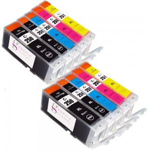 Sophia Global Compatible Ink Cartridge Replacement for Canon PGI-250XL CLI-251XL (2 Large Black, 2 Small Black, 2 Cyan, 2 Magenta, 2 Yellow)