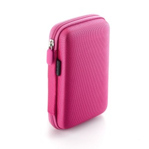 Drive Logic DL-64 Portable EVA Hard Drive Carrying Case Pouch, Pink