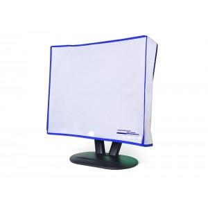 """Computer Dust Solutions, LLC Dust and water resistant silky smooth antistatic vinyl LCD Monitor Dust Cover for 17"""" LCD (18W x1"""